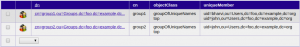 Configuration of the two groups created inside LDAP