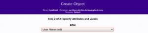 Choosing RDN while creating a user in LDAP